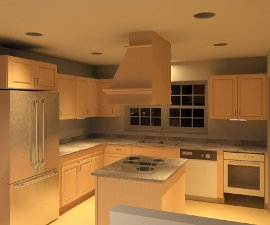 Kitchen Rendering created with Revit Architecture 2011