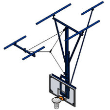 PSS Model 3103 - Ceiling-Hung Basketball Backstop